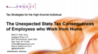 ENG2115. The Unexpected State Tax Consequences of Employees who Work from Home