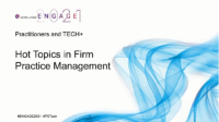 PST2117. Hot Topics in Firm Practice Management