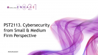 PST2113. Cybersecurity from Small & Medium Firm Perspective