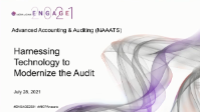 NAA2121. Harnessing Technology to Modernize the Audit