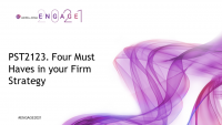 PST2123. Four Must Haves in your Firm Strategy