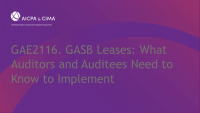 GASB Leases: What Auditors and Auditees Need to Know to Implement