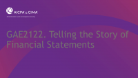 Telling the Story of Financial Statements icon