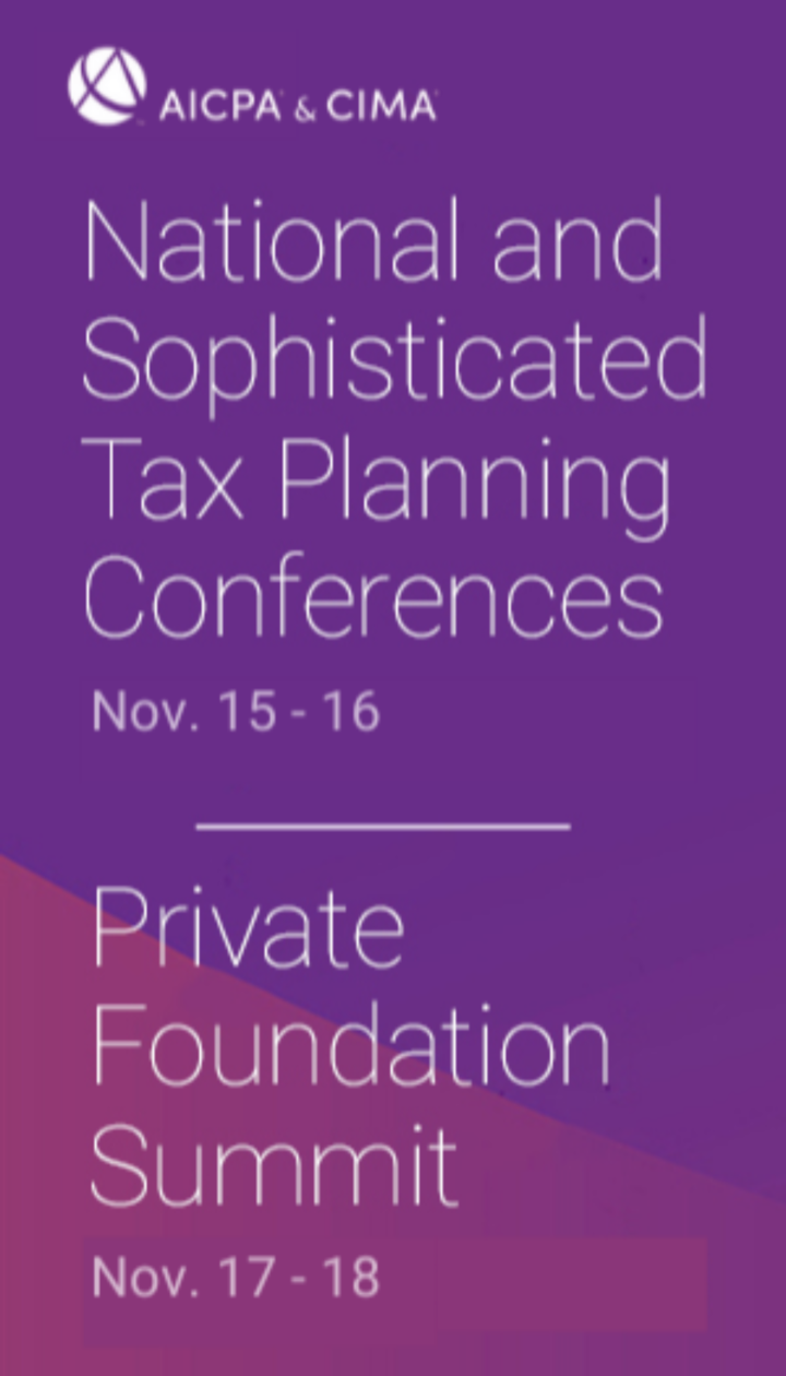 2021 AICPA & CIMA National Tax & Sophisticated Tax Conferences with Private Foundation Summit icon