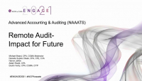 NAA2116. Remote Audit - Impact for Future