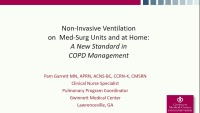Non-Invasive Ventilation on Med-Surg Units and at Home