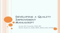Developing a Quality Improvement Project Manuscript icon