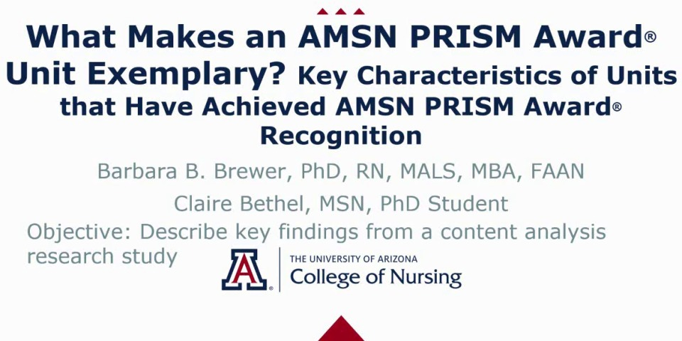 What Makes an AMSN PRISM Award Unit Exemplary? Key Characteristics of Units that Have Achieved AMSN PRISM Awards Recognition