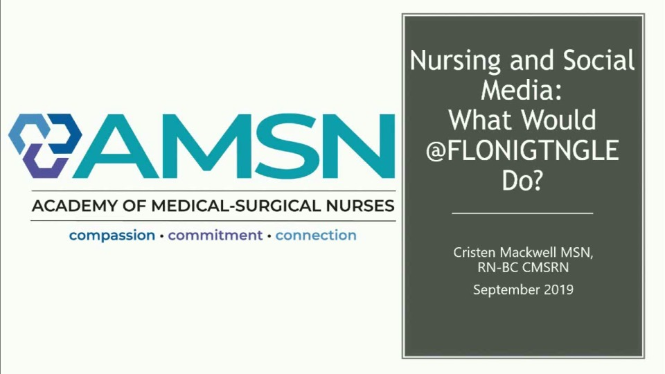 Nursing and Social Media: What Would @FlorenceNightingale Say?