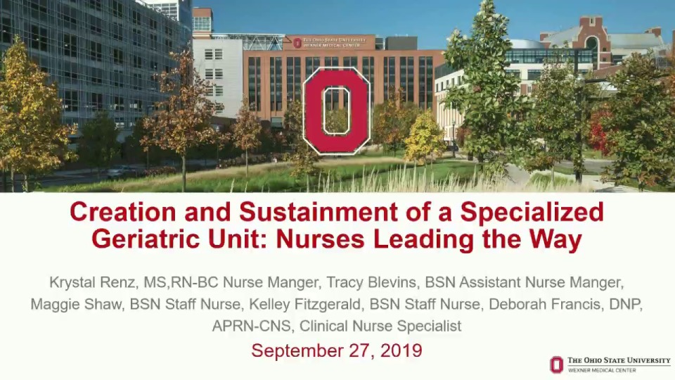 Creation and Sustainment of a Specialized Geriatric Unit: Nurses Leading the Way
