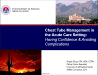 Chest Tube Management in the Acute Care Setting: Having Confidence and Avoiding Complications icon