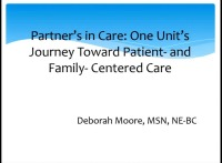 Partners in Care: One Unit's Journey toward Patient- and Family-Centered Care icon