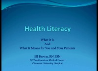 Health Literacy: What It Is and What It Means to You and Your Patients icon