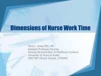 Dimensions of Nurse Work Time icon