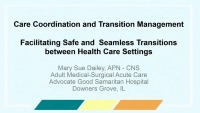 Care Coordination and Transition Management - Facilitating Safe and Seamless Transitions between Health Care Settings icon