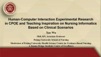 Human-Computer Interaction Experimental Research in CPOE and Teaching Inspiration on Nursing Informatics Based on Clinical Scenarios