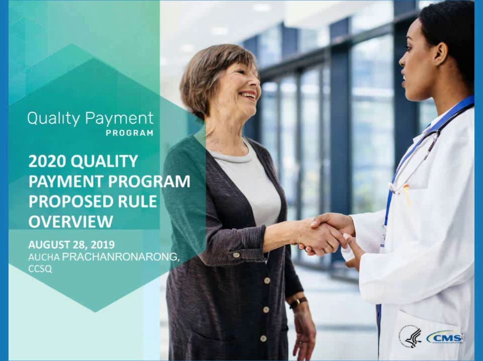 Quality Payment Program Year 4 (2020) NPRM: MIPS Update