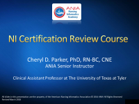 CRC Module 1: Study Plan Formulation for ANCC Certification Exam
