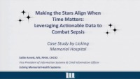Making the Stars Align when Time Matters: Leveraging Actionable Data to Combat Sepsis