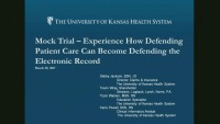 Mock Trial - Experience How Defending Patient Care Can Become Defending the Electronic Record icon