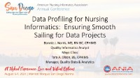Data Profiling for Nursing Informatics: Ensuring Smooth Sailing for Data Projects