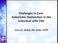 Challenges in Care: Autonomic Dysfunction Management in the Individual with CKD icon
