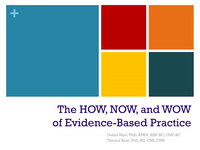 The HOW, NOW & WOW of Evidence-Based Practice icon