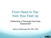 From Head to Toe: Kick Your Feet Up - Performing a Thorough Foot Care Assessment icon