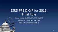 Implications of CMS Final Rule on the ESRD Prospective Payment System and Quality Incentive Program icon