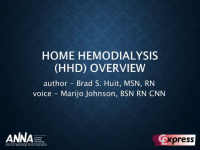 Home Hemodialysis (HHD) Overview icon