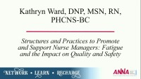 Structures and Practices to Promote and Support Nurse Managers: Fatigue and the Impact on Quality and Safety icon