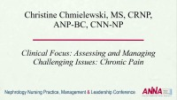 Clinical Focus: Assessing and Managing Challenging Issues: Chronic Pain (Cramps) icon