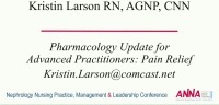 Pharmacology Update for Advanced Practitioners: Pain Relief icon