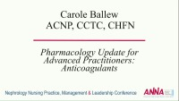 Pharmacology Update for Advanced Practitioners: Anticoagulants icon