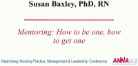 Mentoring: How to Be One, How to Get One