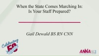When the State Comes Marching In: Is Your Staff Prepared?