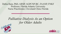 Palliative Dialysis as an Option for Older Adults