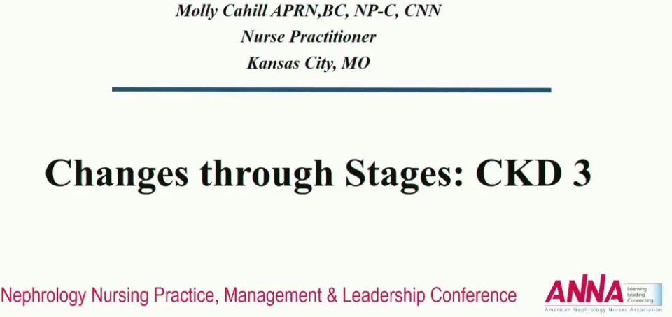 Changes through Stages: Chronic Kidney Disease Stage 3