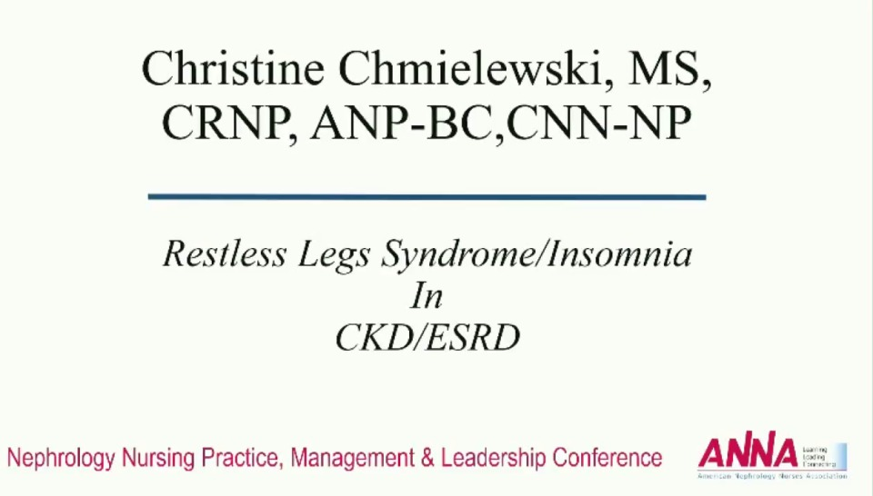 Critical Thinking: Common Complaints in Advanced Chronic Kidney Disease: Restless Leg Syndrome icon