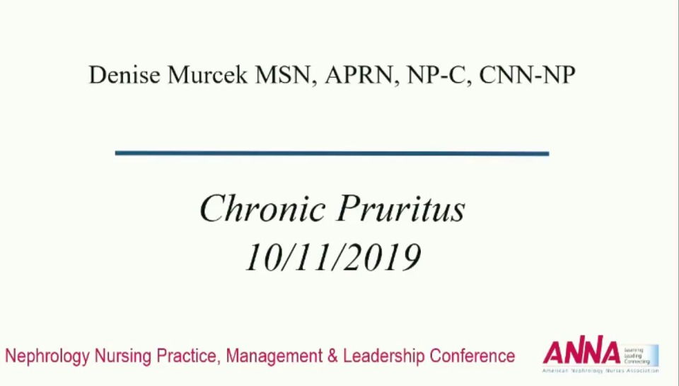 Critical Thinking: Common Complaints in Advanced Chronic Kidney Disease: Chronic Pruritus icon