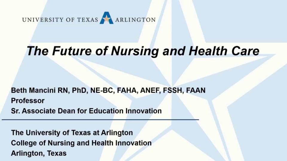 The Future of Nursing and Health Care