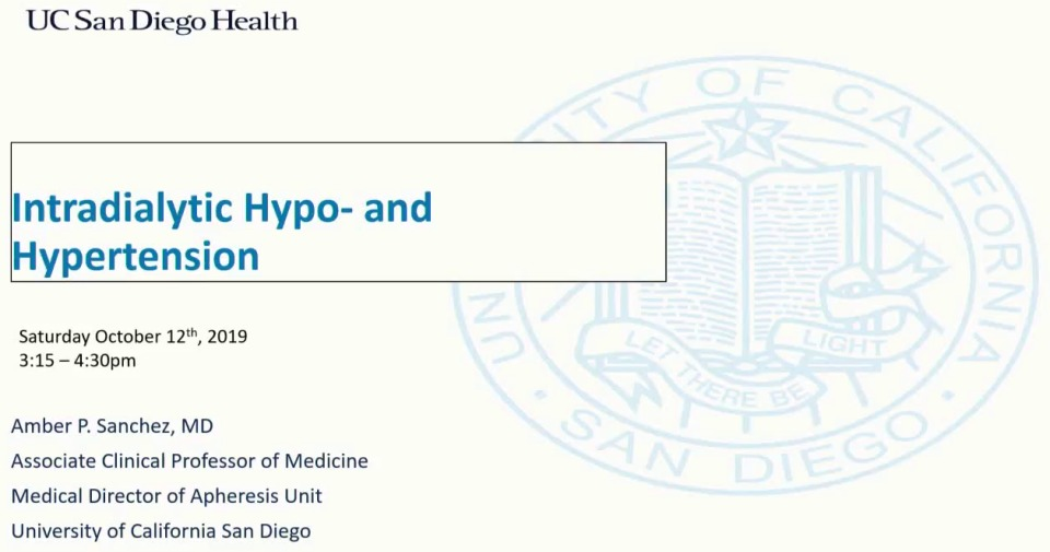Intradialytic Hyper- and Hypotension