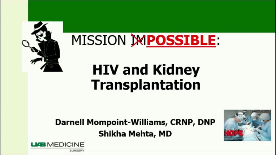 The HOPE (HIV Organ Policy Equity) Act: HIV + Organ Donation