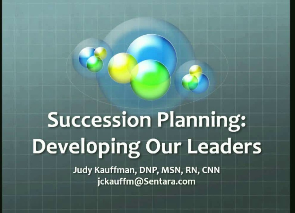 New Leader Succession Planning