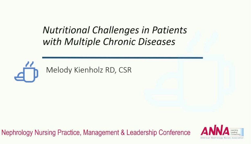 Nutritional Challenges in Patients with Multiple Chronic Diseases