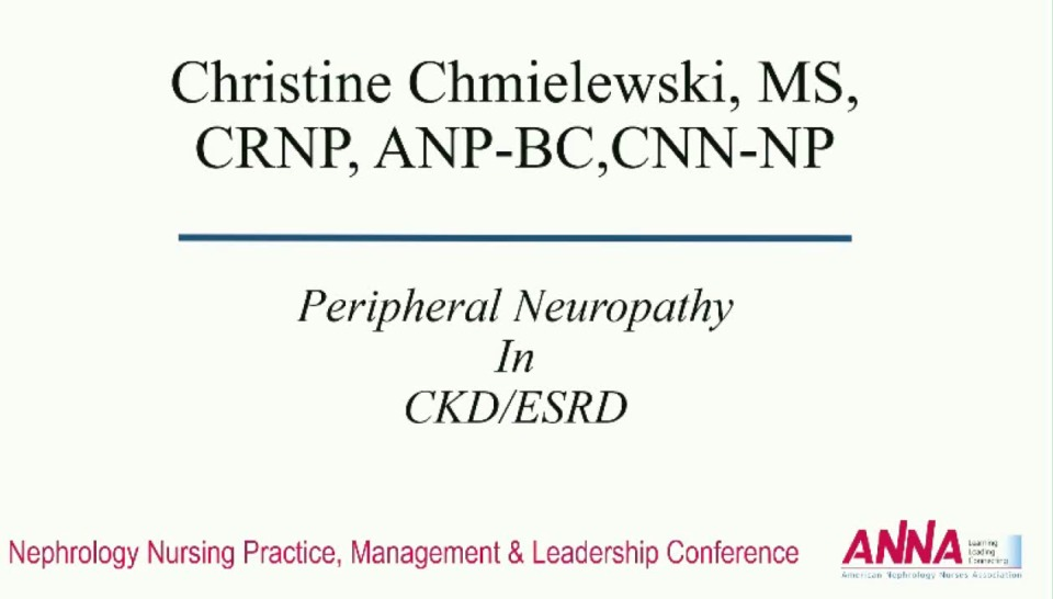 Critical Thinking: Common Complaints in Advanced Chronic Kidney Disease: Peripheral Neuropathy icon
