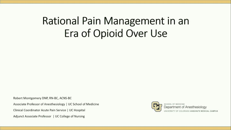 Tackling Opioid Use Disorder - Pain Management without Opioids icon