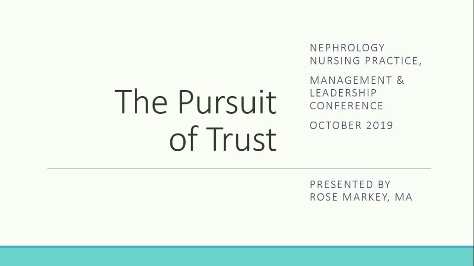 Going for the Gold in Nurse Management: The Pursuit of Trust icon
