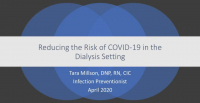 Reducing the Risk of COVID-19 in the Dialysis Setting icon