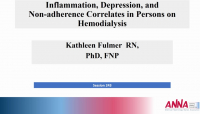 The Relationship Between Inflammation, Depression, and Nonadherence Among Persons with ESRD